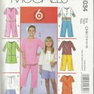 Pattern-6 Great Looks 1 Easy Pattern-Girl's Tunics-Shorts-Capri Pants-Sz 7-12