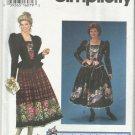 Simplicity Daisy Kingom Pattern-Misses Dress in Sizes 12-14-16