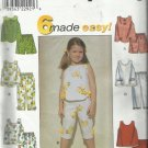Simplicity Pattern-6 Made Easy-Child's Top-Pants-Shorts  Sizes 5-6-6X