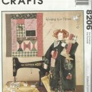 """McCall's Craft Pattern-Hanging By A Thread-23"""" Sewing Doll With Quilt"""