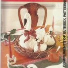 """Christmas In July-Butterick-8""""-15""""20"""" Goose Dolls-Placemats & Card Holders-Napki"""