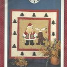 "Applique Quilt Pattern-Alma Lynne's Work Of Heart-SANTA & RUDOLPH-30"" x 30"""