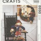 """McCall's Crafts Pattern by Michelle Hains-30"""" Scarecrow and 20""""  Wreath-FALL"""