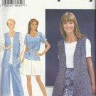 Simplicity Pattern-Misses Separates Vest-Top-Split Skirt-16-24