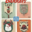 Plastic Canvas Pattern Booklet-Festival of Banners-10 Banners-Christmas In July