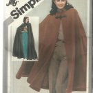 VINTAGE PATTERN-Misses Jiffy Unlined Cape in Two Lengths-Sizes 10-12  COSTUME