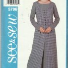 Butterick Pattern-See & Sew  Misses Tuic & Dress-Sizes 20-22-24   Uncut