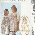 Pattern-Ruffles & Lace Treasured Collection-Children's Dress & Pinafore-Sz 2-5