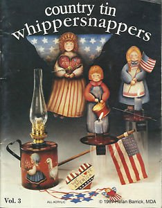 Tole Painting Instruction & Pattern Booklet-Country Tin Whippersnappers-Christma
