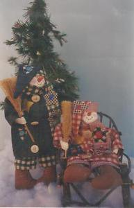 "Craft Pattern-Mr. Sniggles Snowman 12"" Doll & Clothes"