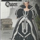 "Crochet Pattern-Black Onyx Queen Doll Dress-Fits 11 1/2"" Fashion Doll-Barbie"