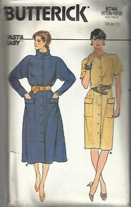 Vintage Butterick Fast & Easy Pattern #6744-Misses Dress in Sizes 6-8-10