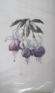 Cross Stitch Pattern-Blue Fuchsia-The Silver Lining