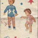 Vintage Knitting Pattern-Knit O Graf-Raglan Sleeve Lamb Suit-1-2-4