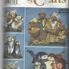 "Simplicity Crafts Pattern-17"" Families-Bunnies-Bears-Cats-Penguin-Snowman"