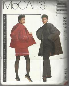 McCall's Pattern #6257-Misses Coat-Jacket--Skirt-Pants  Sz 10