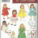 Simplicity Archives Pattern-Doll Clothes For 18' Dolls