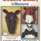 Vintage Craft Booklet-Creative Critters in Macrame-8 Animals-Horse-Panda-Elephan
