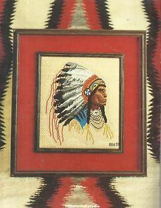 Vintage Cross Stitch Pattern Booklet-More American Indian Designs