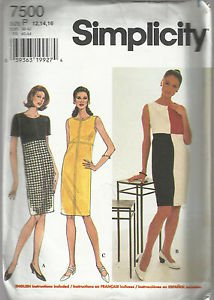 Simplicity Pattern-Misses Dress-Sz 12-14-16 Summer   UNCUT