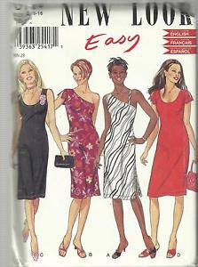 Pattern-Easy New Look-Misses Summer Dress In Sizes 6-16  SUMMER  UNCUT