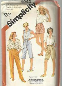 """Half Size Pattern-Set of Pants in Four Lengths In Half Sizes  20 1/2""""-24 1/2"""" UN"""