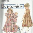 "Daisy Kingdom Pattern-Girl's Dress-Hat- Doll Clothes Fits 17"" Doll  8-14 Christm"