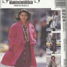 Pattern-Sew News-Misses Lined Coat in Three Lengths & Tie  Belt-Sz 6-8 (XS) Uncu