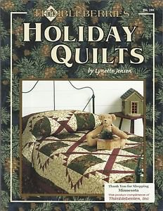Quilt Instruction & Pattern Booklet-THIMBLEBERRIES HOLIDAY QUILTS