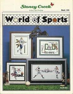 2 Sports Cross Stitch Pattern Booklets-Super Sports 4 & Worlds Of Sports-Stoney