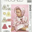 McCall's Pattern #3545-Gooseberry Hill Infants Dress-Jacket-Hat-Panties S-M-L-XL