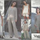 Vogue American Designer Pattern-Calvin Klein-Misses Jacket-Top-Skirt-Shorts-Pant