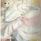 4 Baby Afghan Pattern Bookets-Just Ducky-Love Me Tender-Precious-Receiving Blank