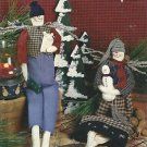 "DPC-SNOW ANGELS By Susan Fouts -19 1/2"" GIRL & BOY SNOW ANGELS"
