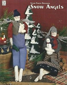 """DPC-SNOW ANGELS By Susan Fouts -19 1/2"""" GIRL & BOY SNOW ANGELS"""