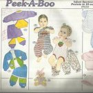 Sunrise Designs Pattern-Peek-A-Boo-Infant Sportswear-Preemie's to 18 MO.-UNCU