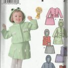 Simplicity Pattern #5370-Toddlers Jacket or Vest and Skirt-1/2, 1 ,2 ,3, 4