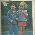 VintageFast & Easy  Butterick Pattern-Children's Top-Pants-Shorts  Sz 2  UNCUT