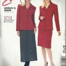 Plus Size Pattern-Stitch N Save-Misses Shirt Jacket & Bias Skirt- Sz 14-16-18-20