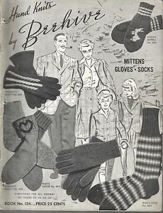 Vintage Knits Pattern Booklet by Beehive-Mittens-Gloves-Socks