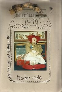 """Raggedy Ann Doll Pattern-JAM 25"""" Cloth Doll & Clothes-Teacher Annie"""