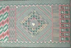 "Stitchery-Cross Stitch Pattern-Towner Sampler I Pattern- 8 1/2"" x 13 1/2"""
