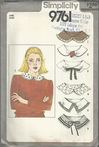 Vintage Simplicity Pattern #9761-Misses Set of Collars
