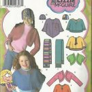 Simplicity Lizzie McGuire Pattern #4386  Child's Fleece Shrug-Capelet-Sz XXS-S