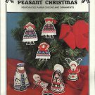 Cross Stitch Pattern Booklet-Peasant Christmas-Perforated Paper Creche & Ornamen