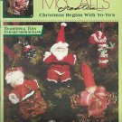 McCall's Creates-Christmas Begins With Yo-Yo's-Santa-Mrs. Claus-Snowman-Tree