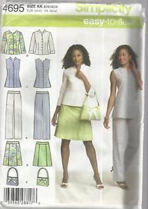 Simplicity Pattern-Misses Pants-Skirt-Tunic/Shirt-Bag in Sz 8-14  UNCUT