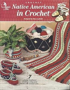 Crochet Pattern Booklet-Native American In Crochet-7 Creations-Boots & Slippers