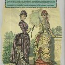 Victorian Fashions Vol. 1 1880-1890-Reference Book For Dressing Dolls-+ 2 Patter