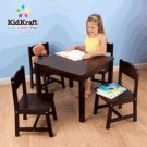 Kidkraft Farmhouse Table & 4 Chairs Espresso KK21453